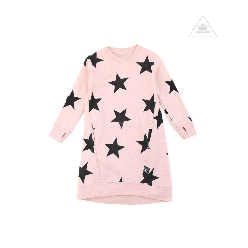 Nununu World Star A Dress Powder Pink