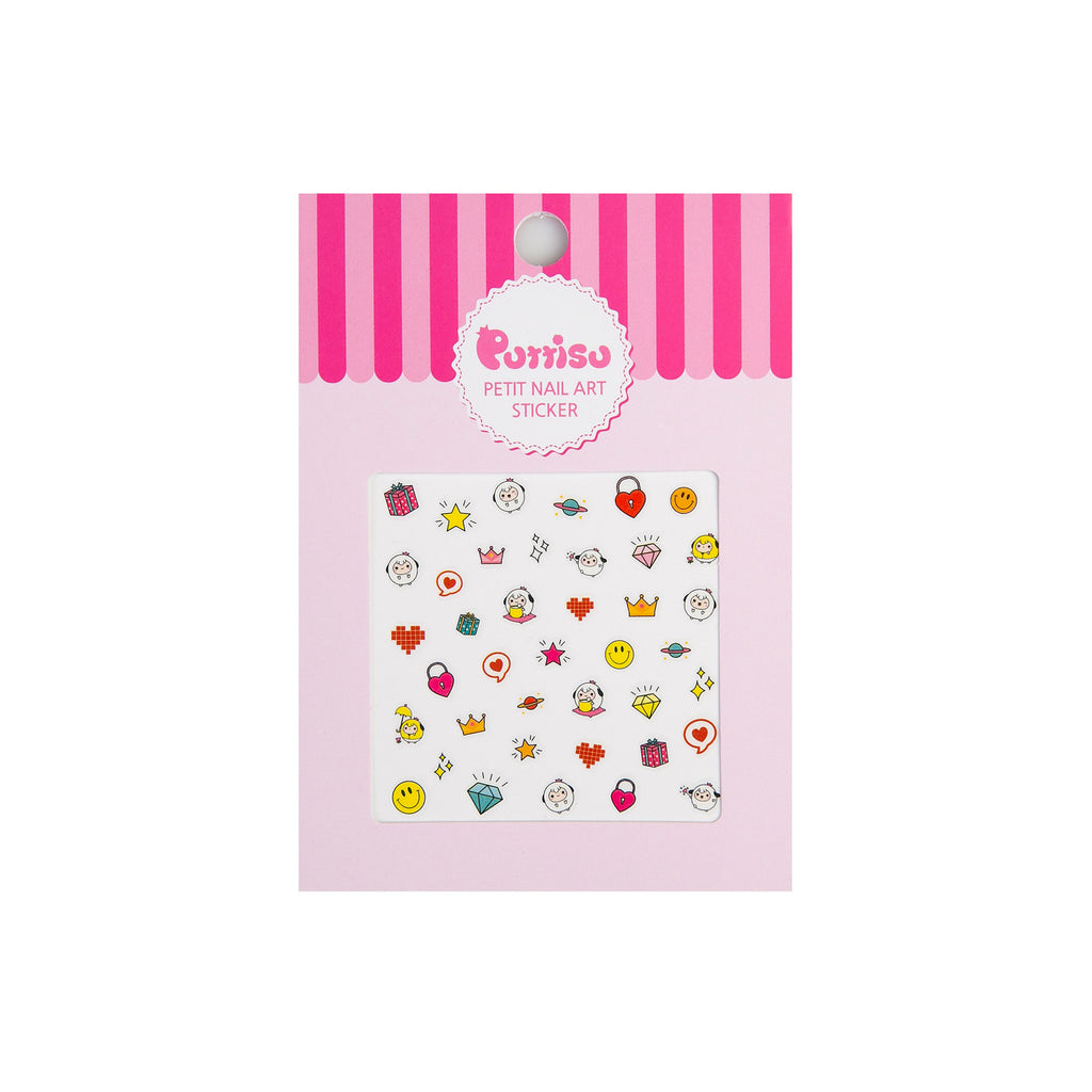 Puttisu petit nail art sticker 01 fantastic treasure box