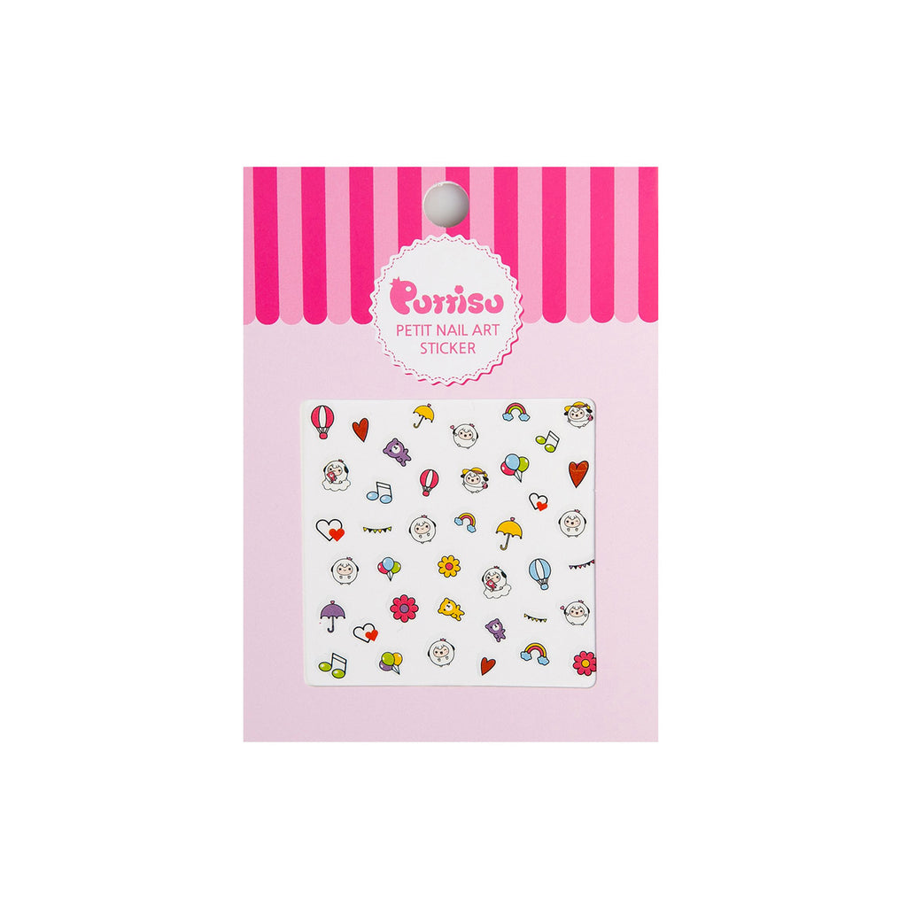 Puttisu petit nail art sticker 02 happy picnic