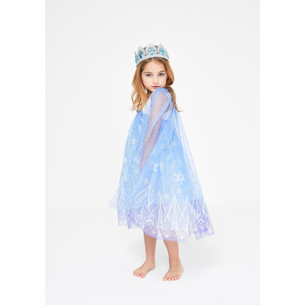 Petite Hailey Snow Princess Dress - Blue