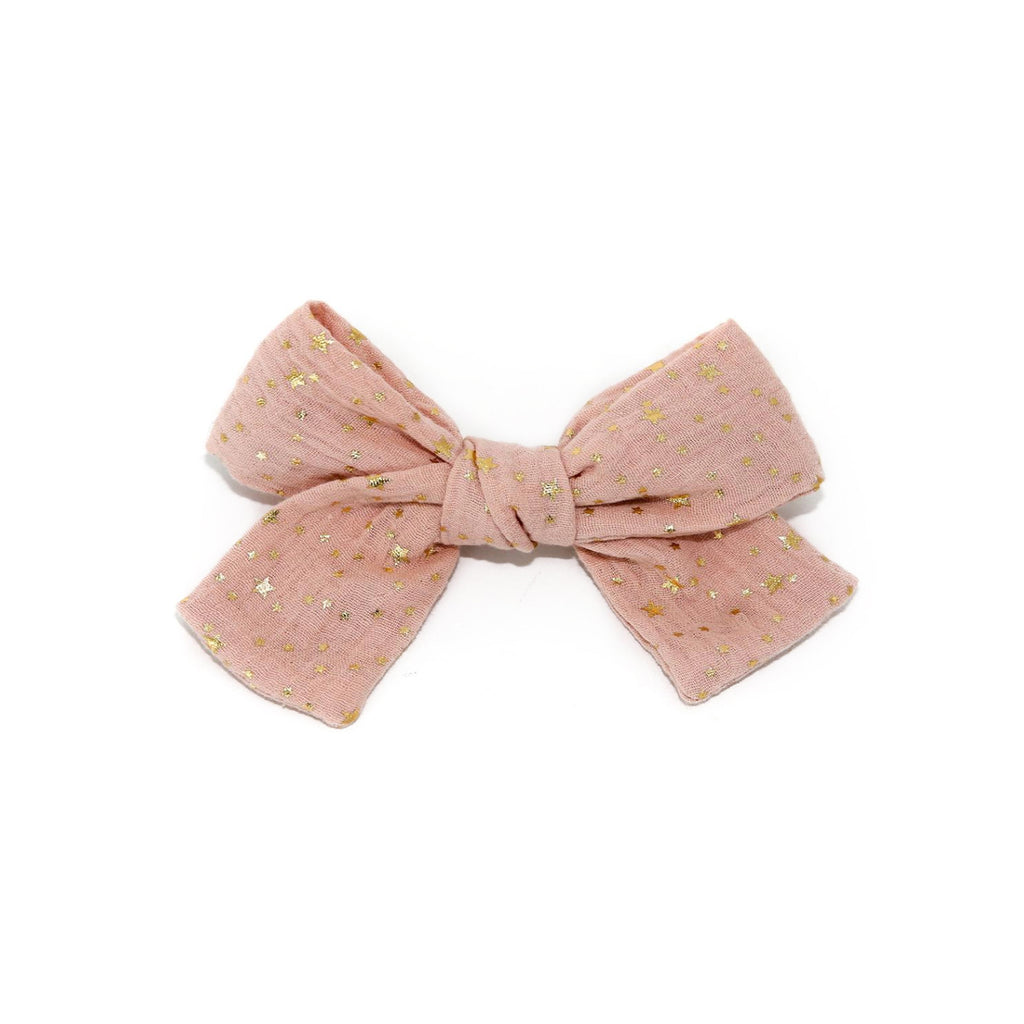 Petite Hailey Big Bow Clip Pink