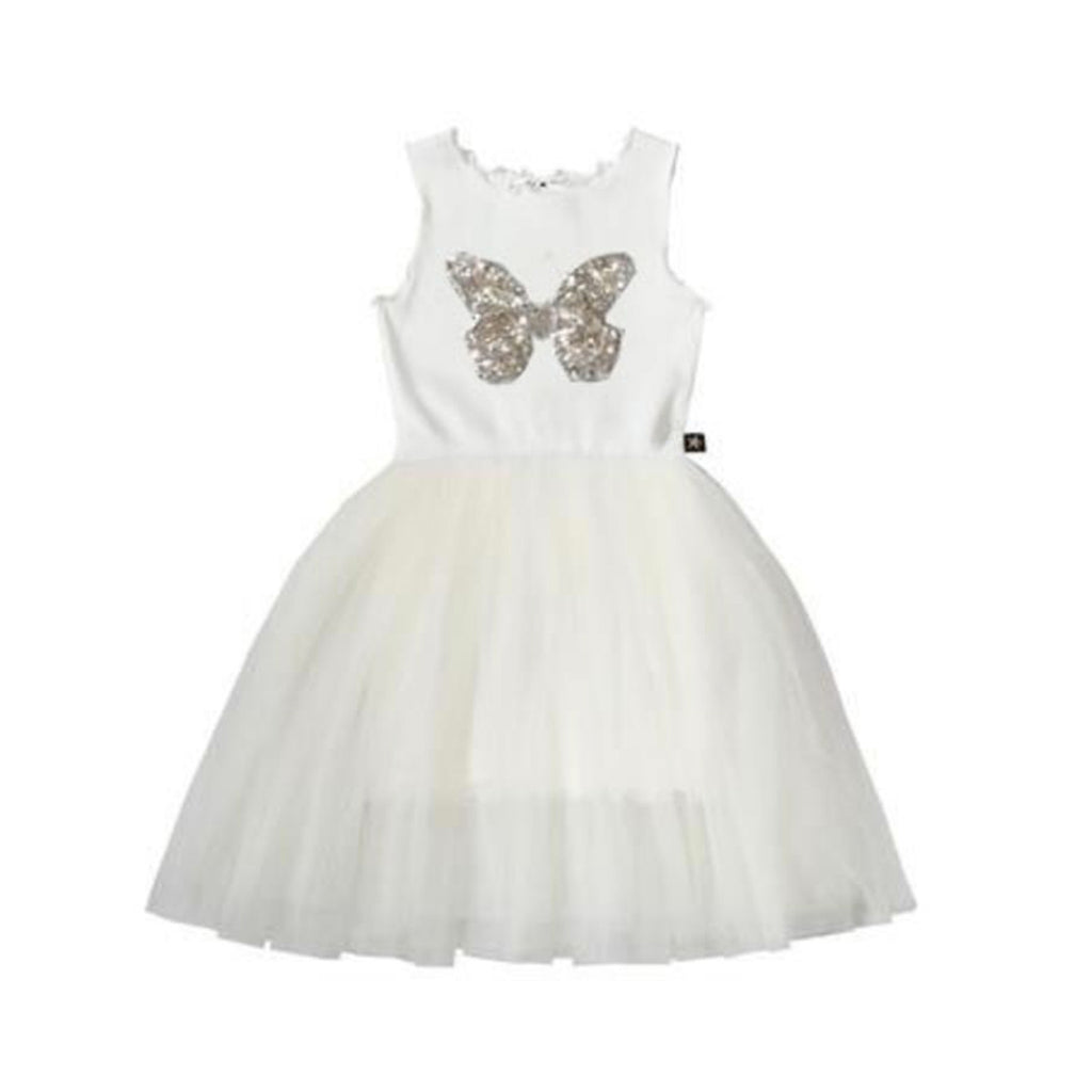Petite Hailey Butterfly Tutu Dress White