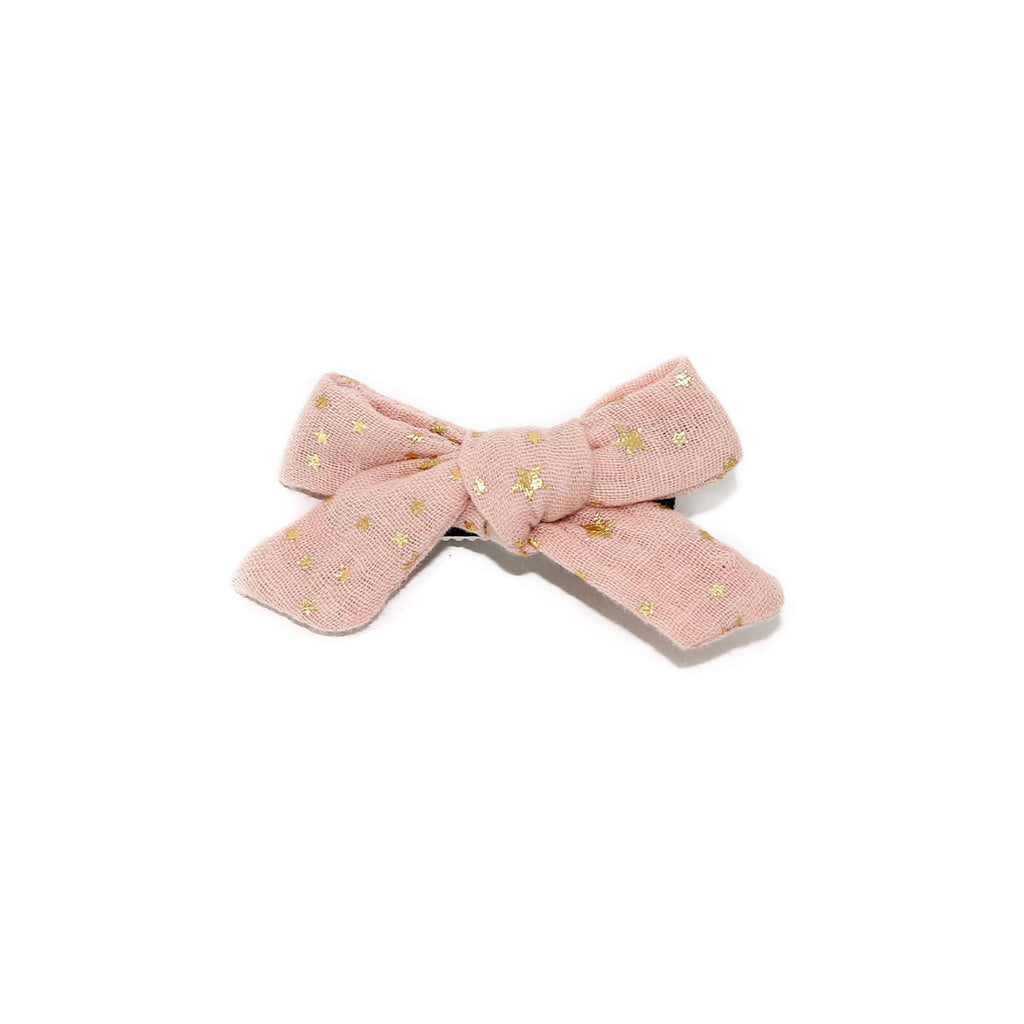 Petite Hailey Small Bow Clip Pink