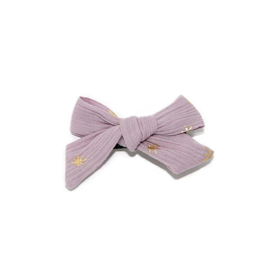 Petite Hailey Small Bow Clip Lavender