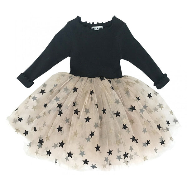 Petite Hailey Mia Tutu Dress-Black