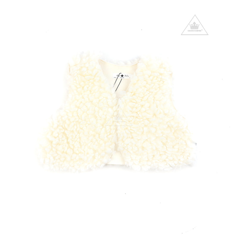 Petite Hailey Cloud Reversible Vest Ivory
