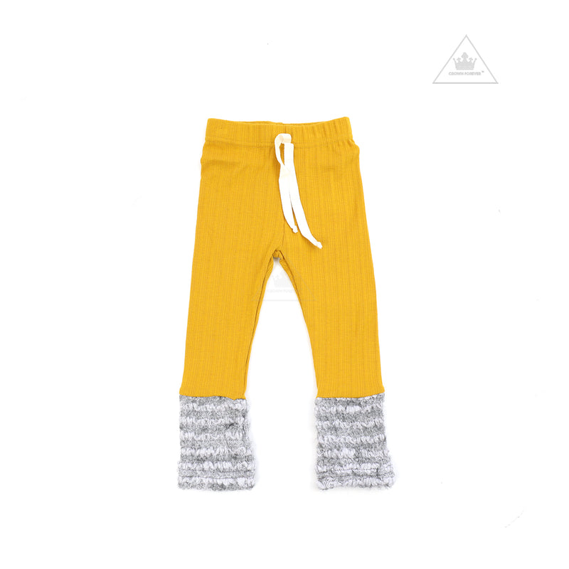 Petite Hailey Warmer Basic Leggings Mustard