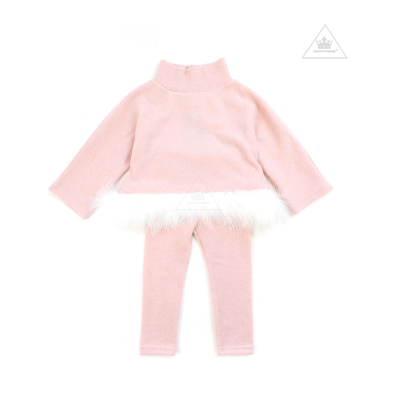 Petite Hailey Feather Top Pink