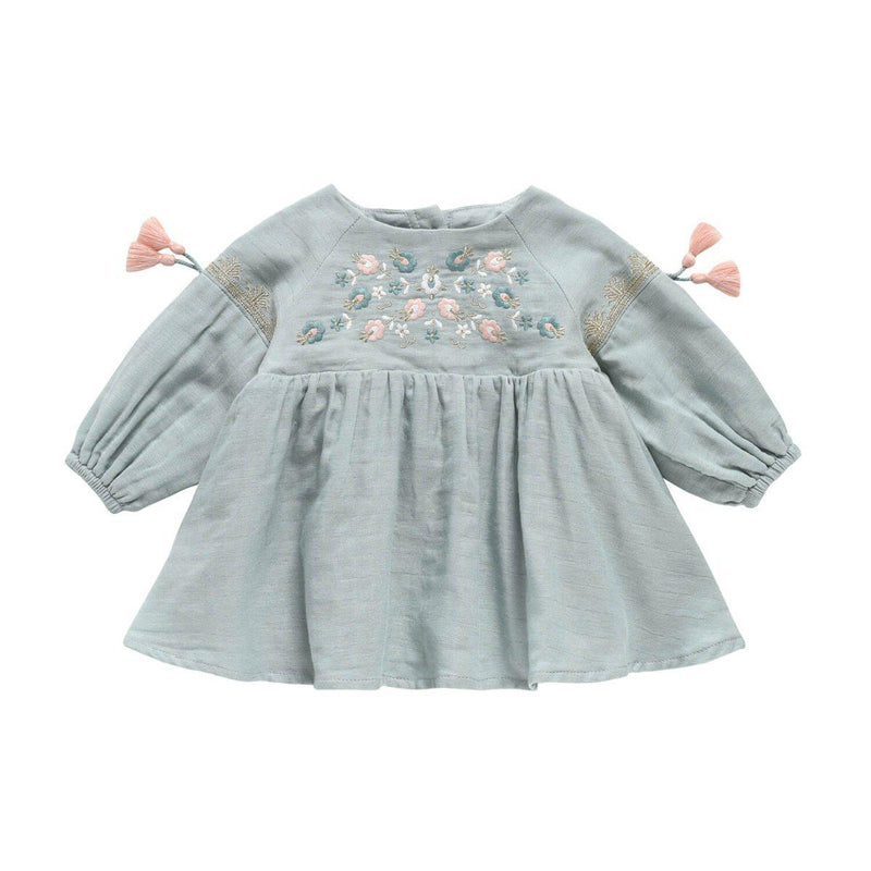Louise Misha Dress Rozalia Silver Cloud