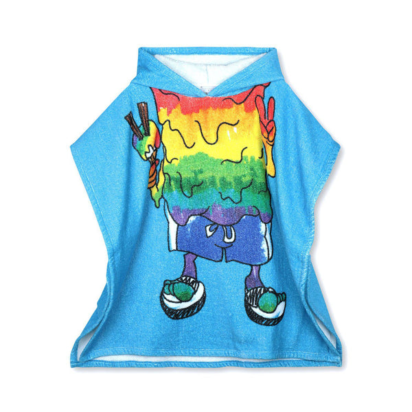 Stella McCartney Kid Boy Rainbow Monster Towel Blue