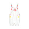 Stella McCartney Baby Hearts Embroidery Linen Jumpsuit