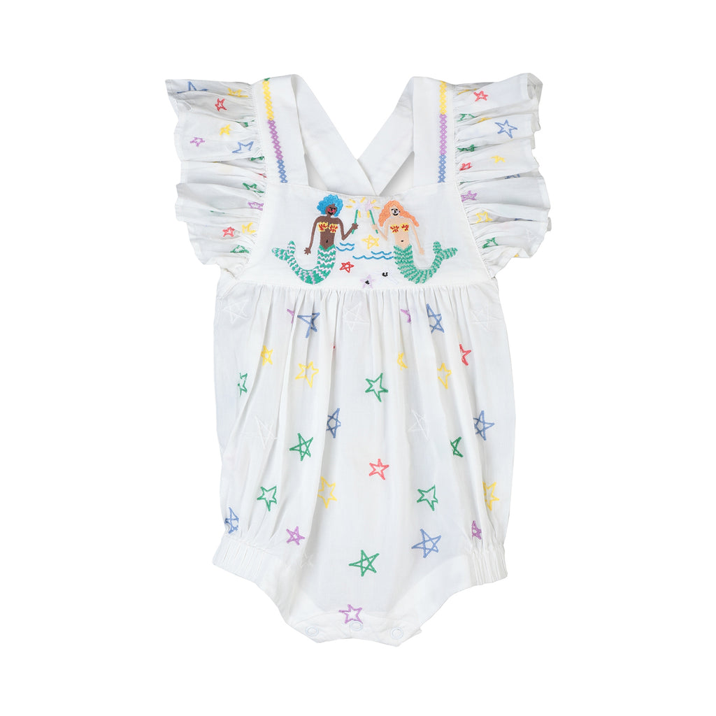Stella McCartney Kids Baby Girl Mermaids Embroidery Cotton Body