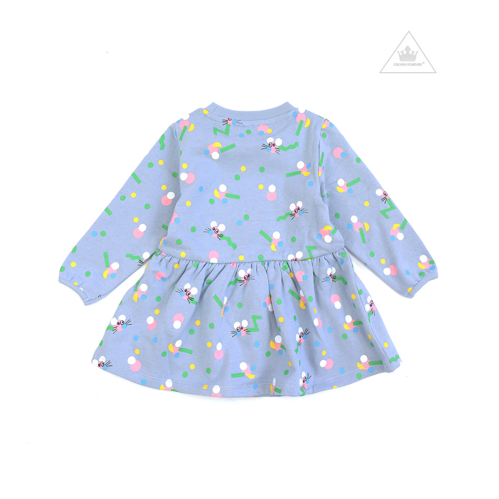 Stella McCartney Baby Girl Mice Wiggle Sweatshirt Dress