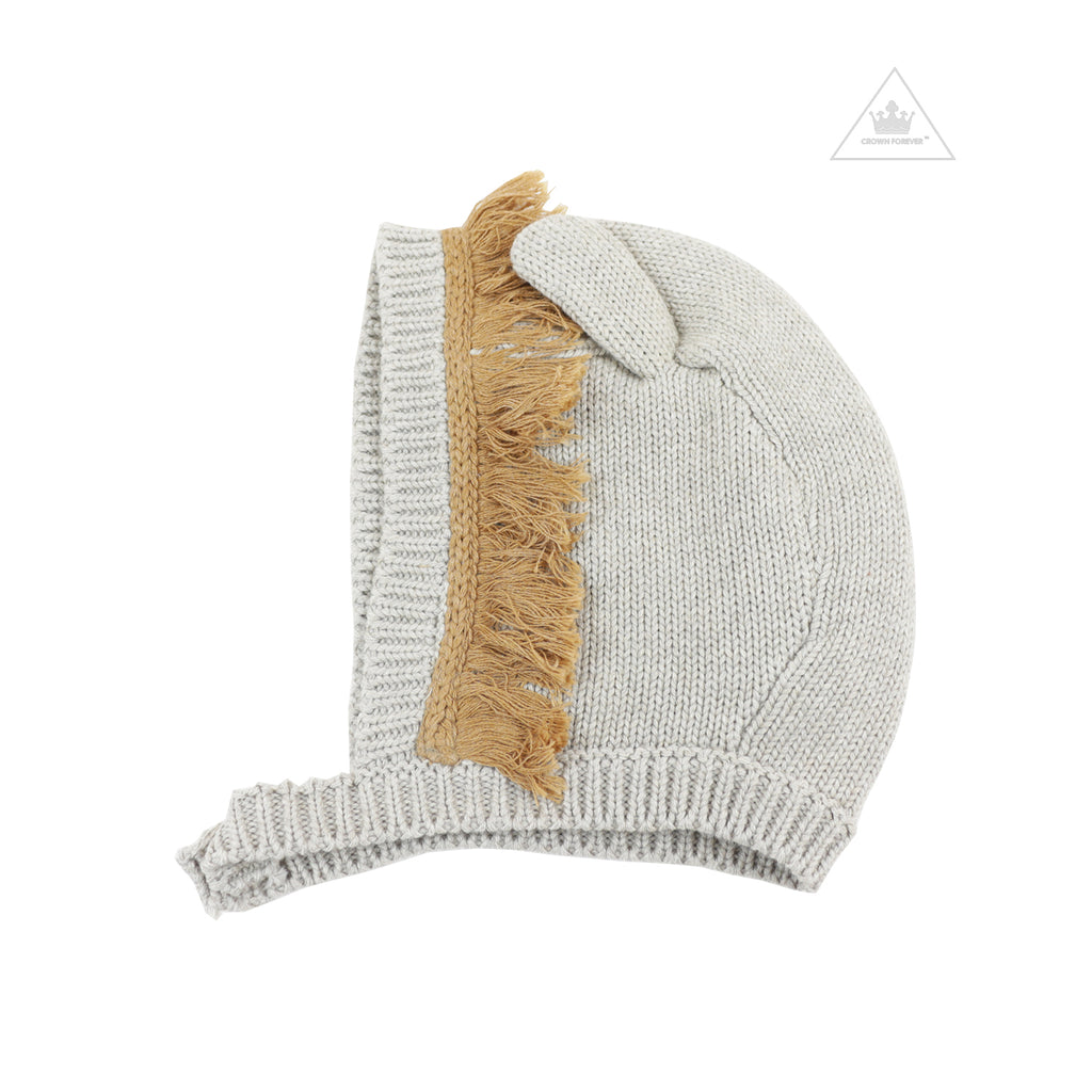 Stella McCartney Baby Knit Hat With Ears And Fringe