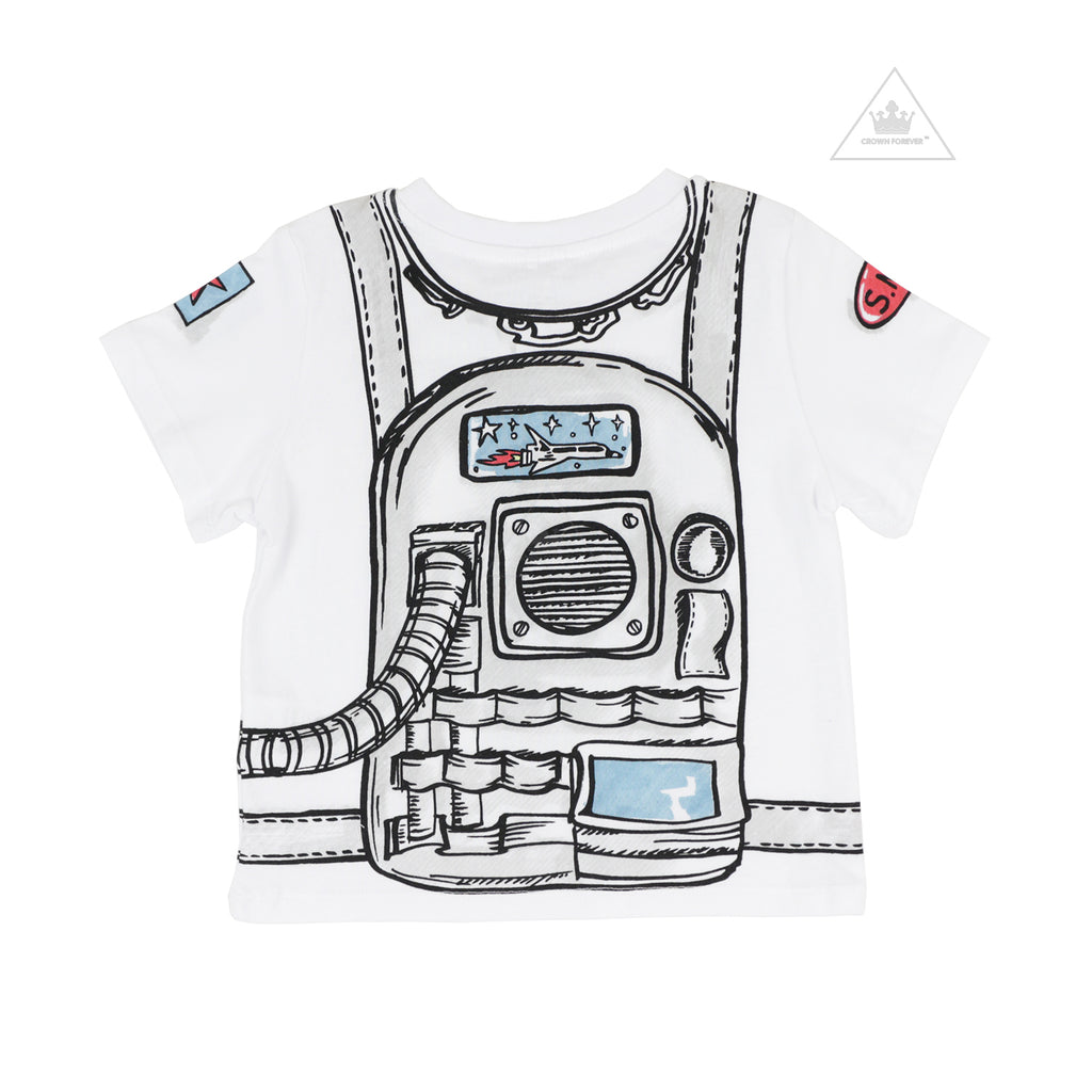 Stella McCartney Kid Boy Astronaut Short Sleeve Tee