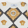 Versace GREEK KEY MEDUSA PATTERNED Children Tee