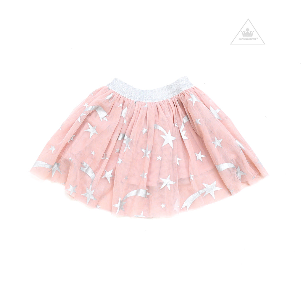 Stella McCartney Kids Girl Foll Stars Tulle Skirt Pink