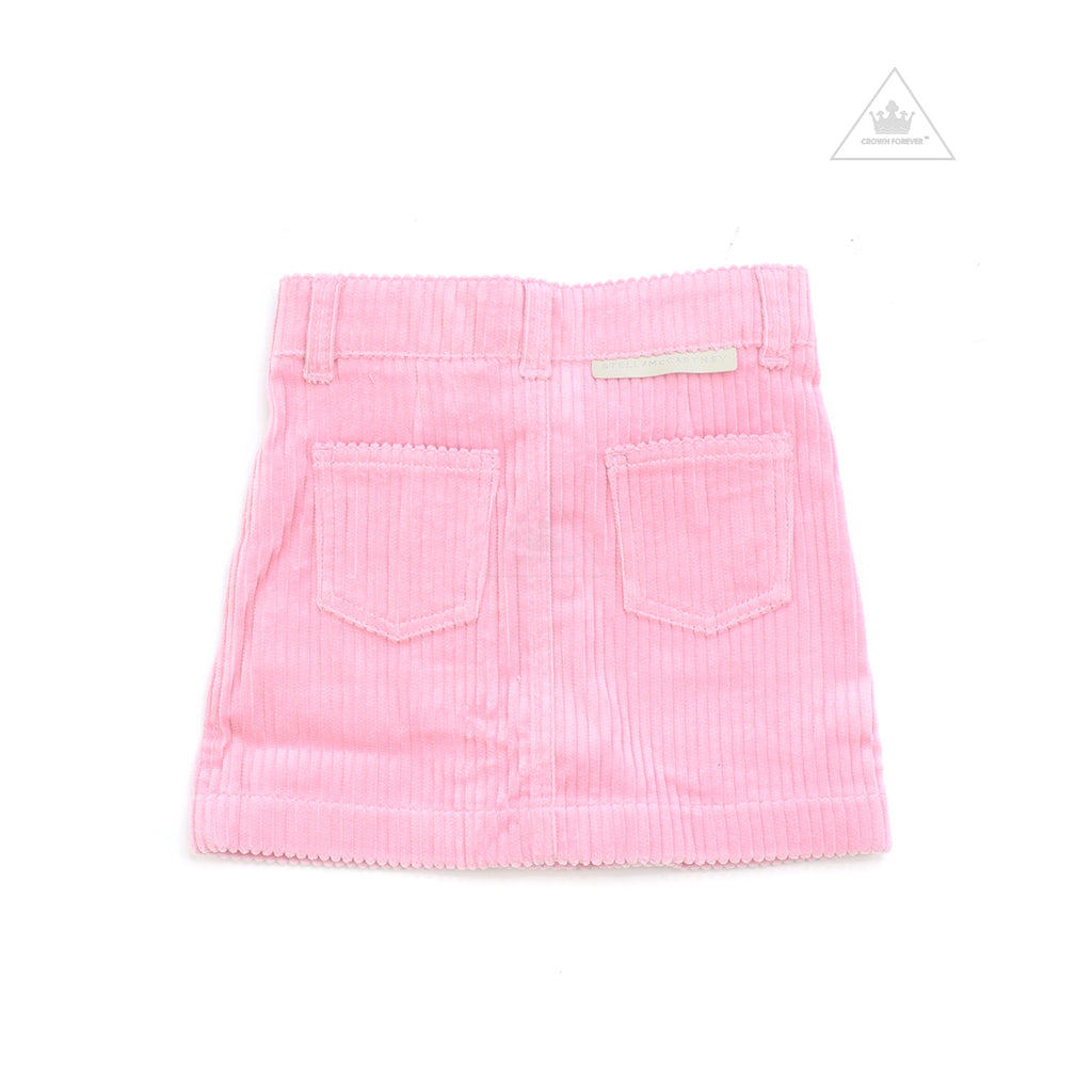 Stella McCartney Kids Girl Jumbo Cord Skirt Pink
