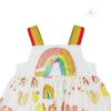 Stella McCartney Kid Girl Paint Rainbow Cotton Dress