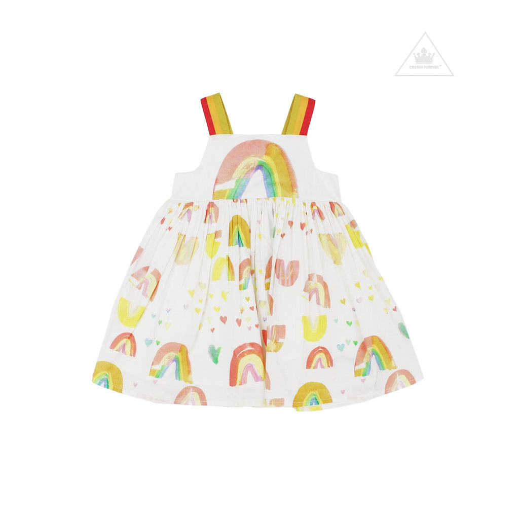 Stella McCartney Baby Girl Sleeveless Paint Rainbow Dress
