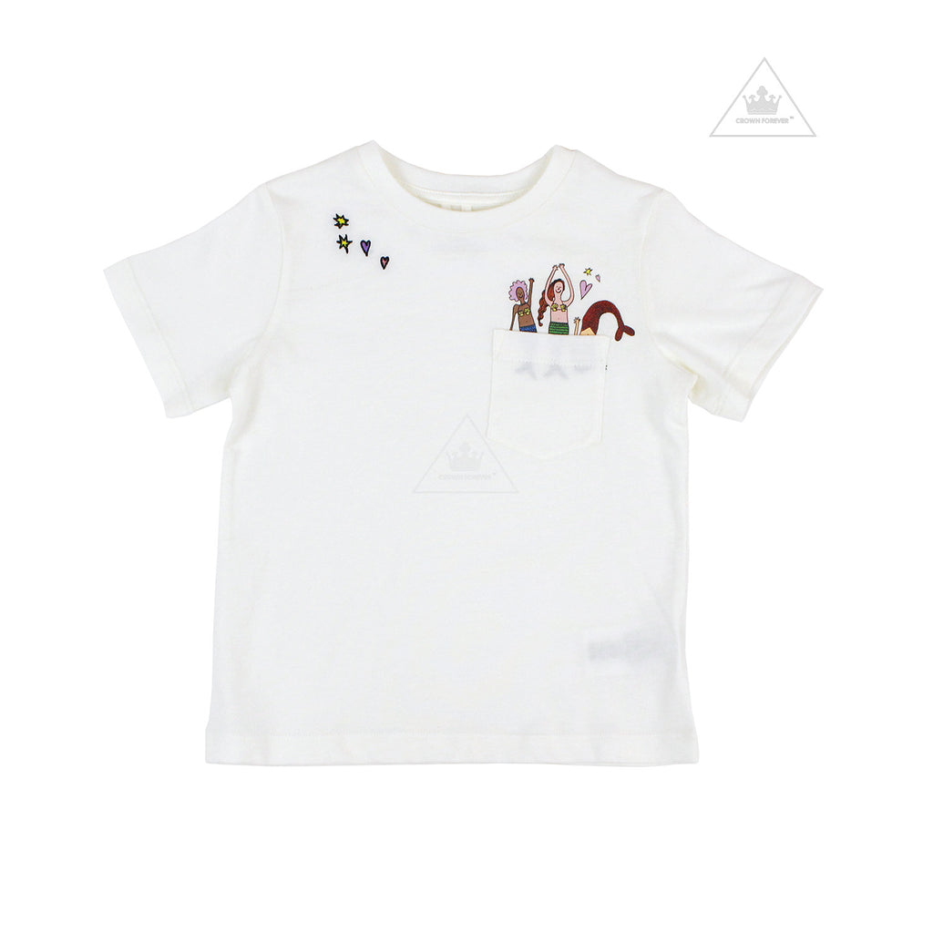 Stella McCartney Kid Girl SS Tee With Mermaid Pocket