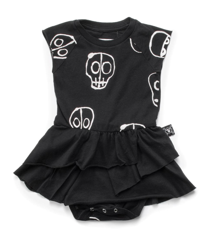 Nununu World Skull Mask Bodysuit Skirt Black
