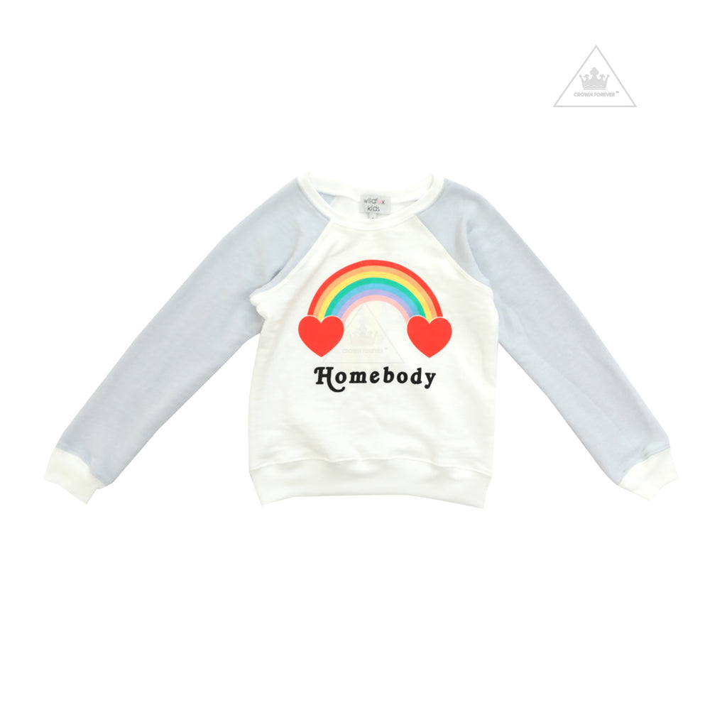 Wildfox Kids Rainbow Homebody Sweater