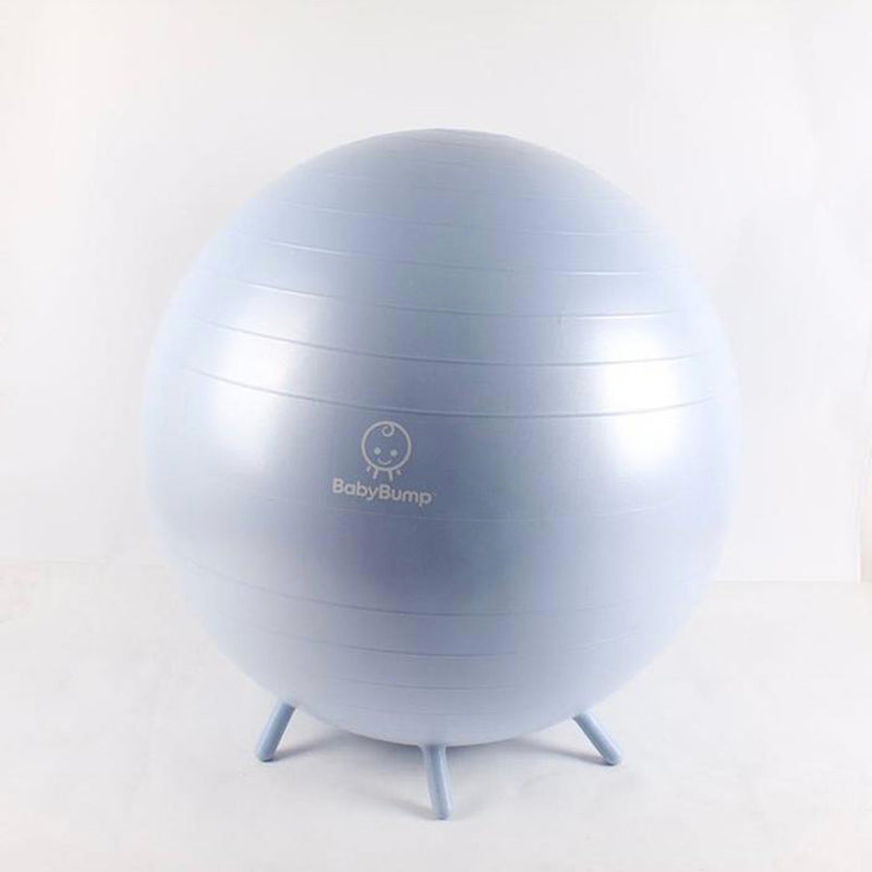 BABY BUMP™ Baby Bump Exercise Birth Ball No-Rolling Stability Baby Blue