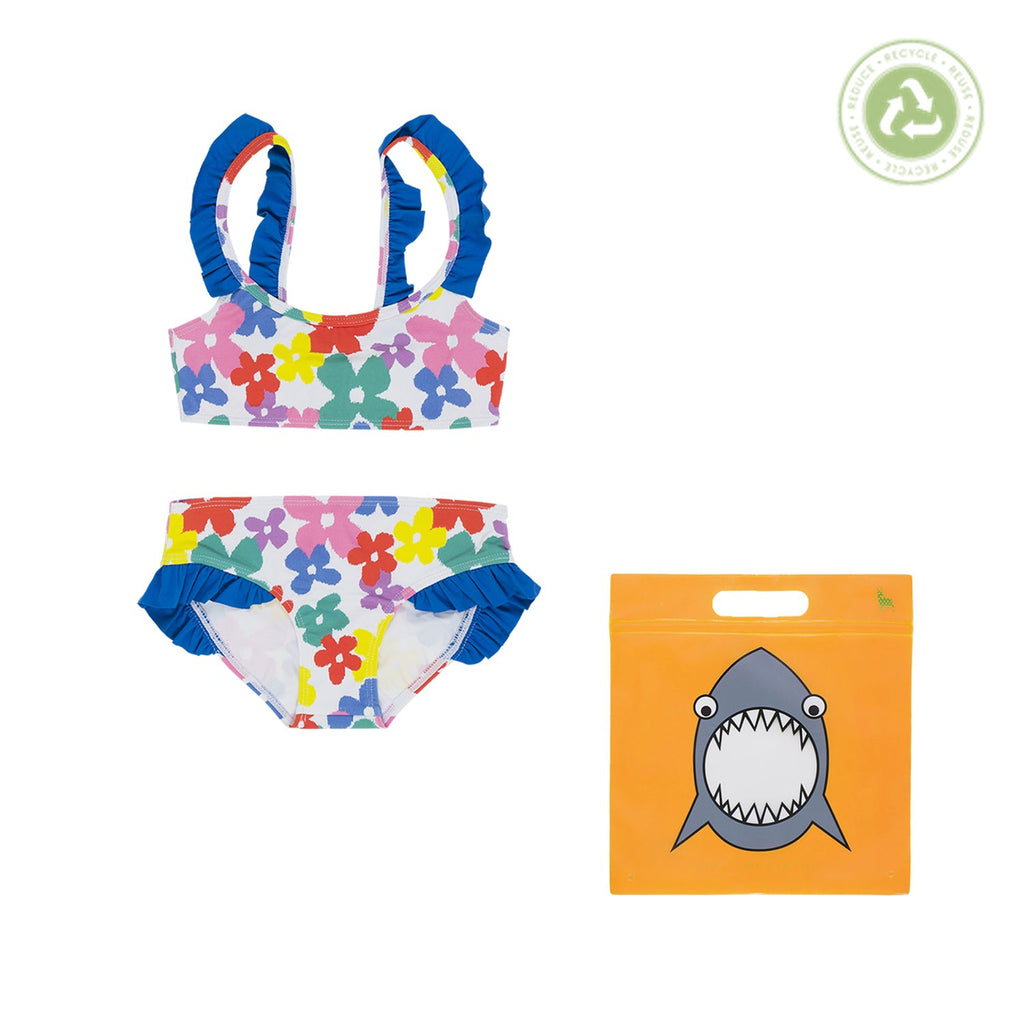 Stella McCartney Kids Girl Multicolor Flower Bikini