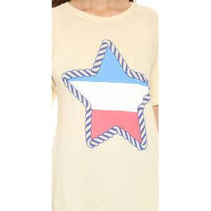 Women's Natural Rope Star Perfect Tee - Napkin