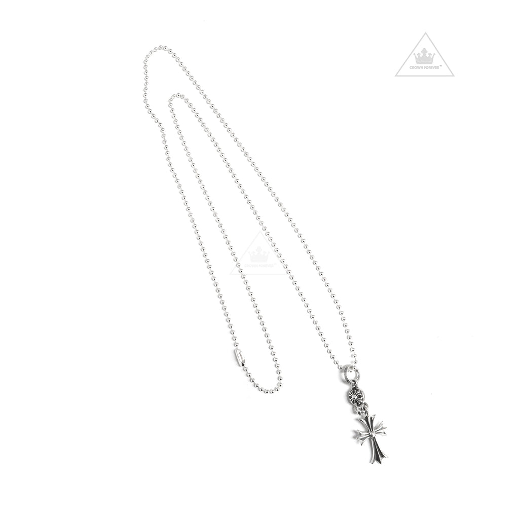 Chrome Hearts One Ball Tiny CH Cross Ball Necklace