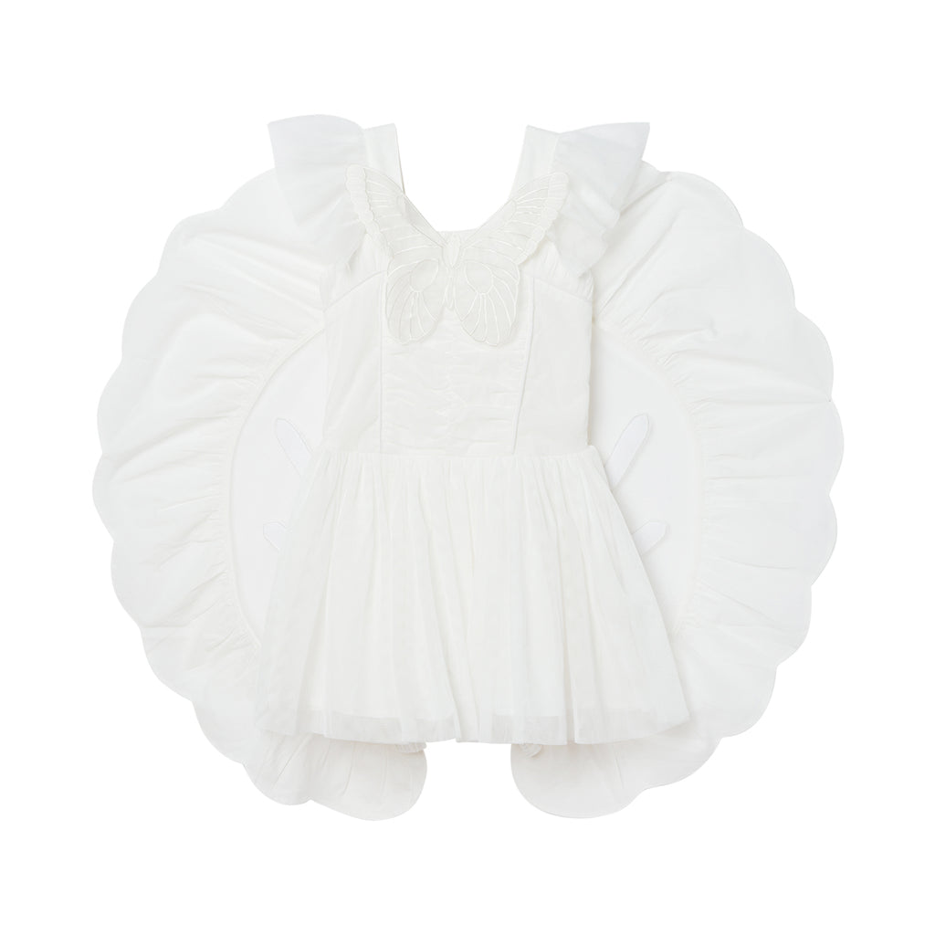 Stella McCartney Kids Girl Silk Tulle Butterfly Wings Dress