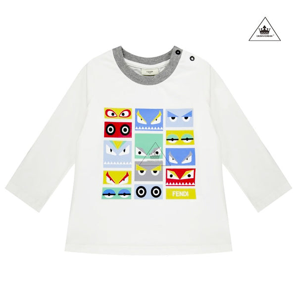FENDI Baby Boy Monster Eye Graphic Tee