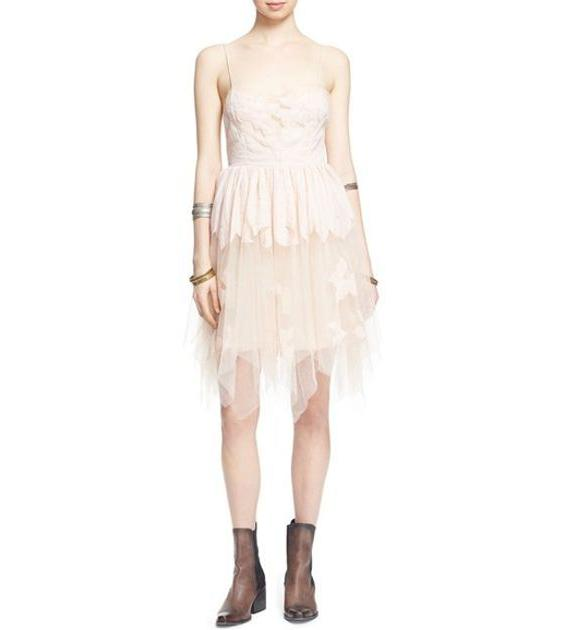 Free People Gossamer Mini Dress Pearl