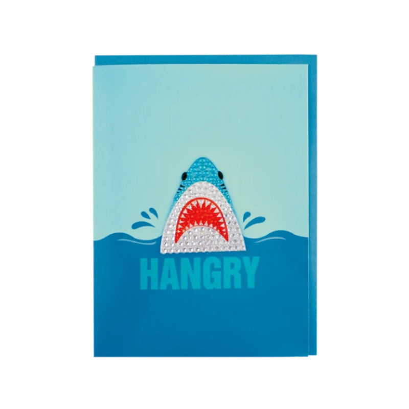 Iscream Shark Rhinestone Decal Greeting Card