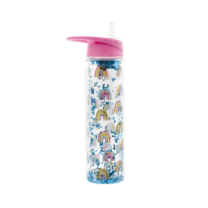 Iscream Rainbows and Hearts Water Bottle