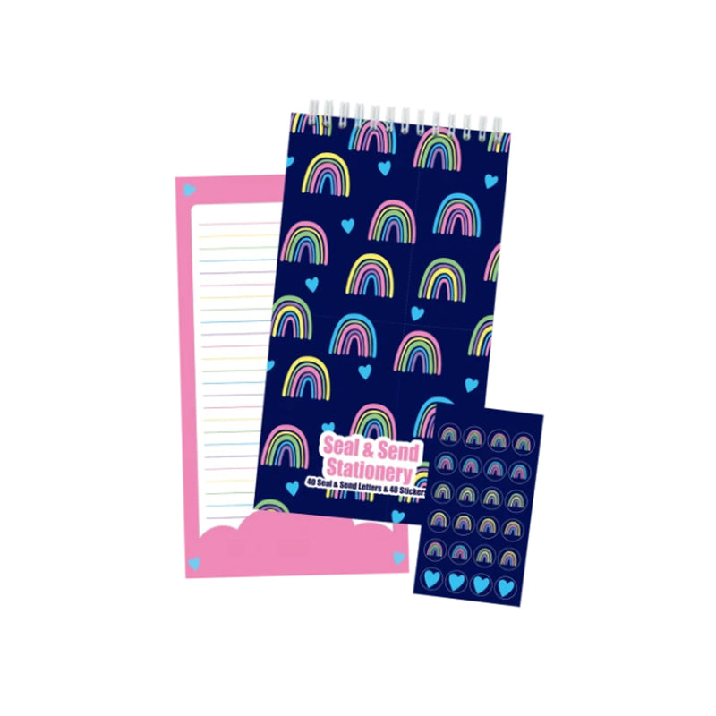 Iscream Rainbows and Hearts Seal & Send Stationery