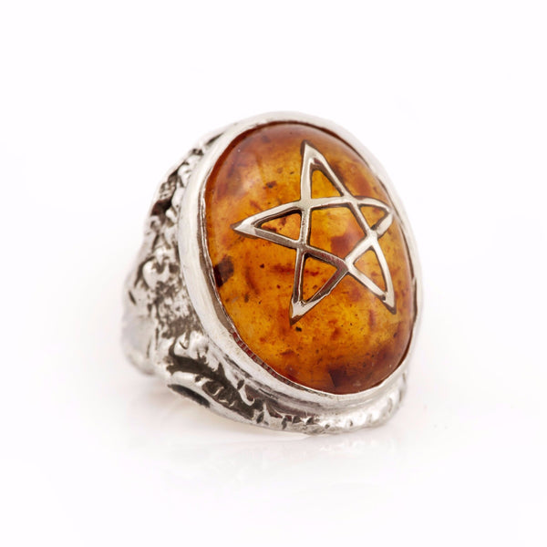 Alex Streeter Original Amber Angel Heart Ring