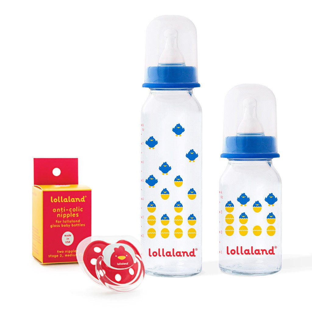Lollaland Glass Baby Bottle Gift Set