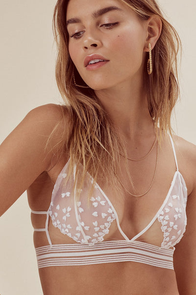 For Love and Lemons Lovesick Triangle Bralette