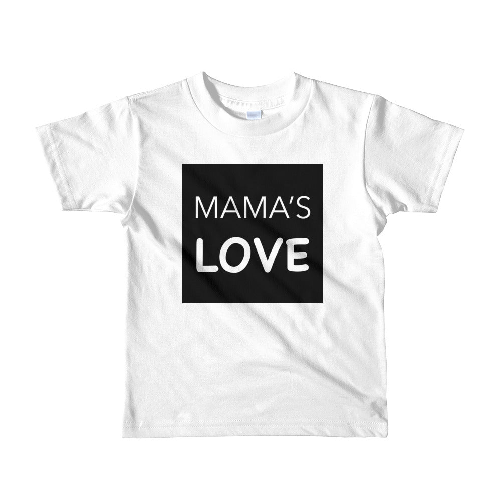 MAMA'S LOVE Short sleeve kids t-shirt White