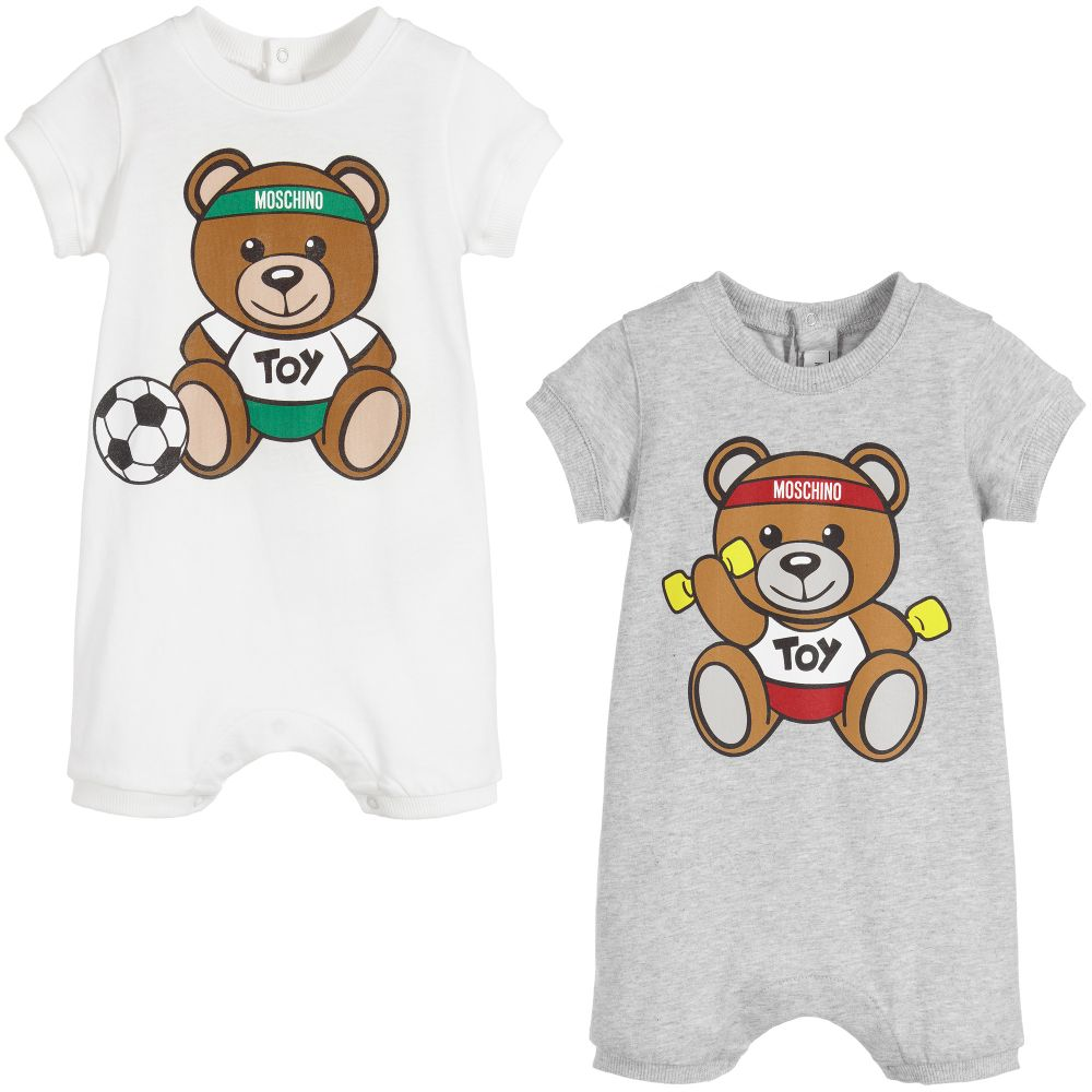 f82c2fe058a Moschino Baby Baby Cotton Shorties (2 Pack) Grey/White – Crown Forever