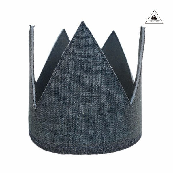 Oh Baby! Linen Crown - Elephant Gray
