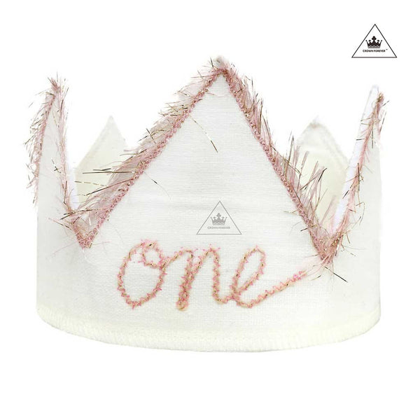 Oh Baby! Birthday Crown - Sparkle Pink/Oyster