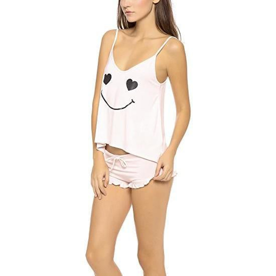 Wildfox Couture Happy Heart Face Je T'Amie Sleep Set