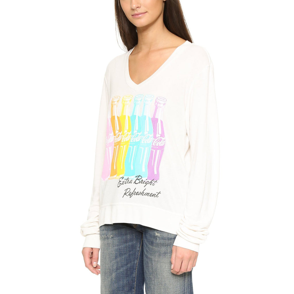Wildfox Couture Coca Cola Extra Bright Sweatshirt
