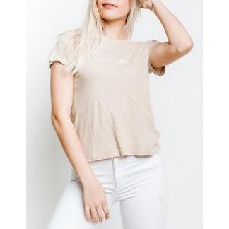Wildfox Couture Aye Carumba No. 9 Tee in Pigment Maderas Tan