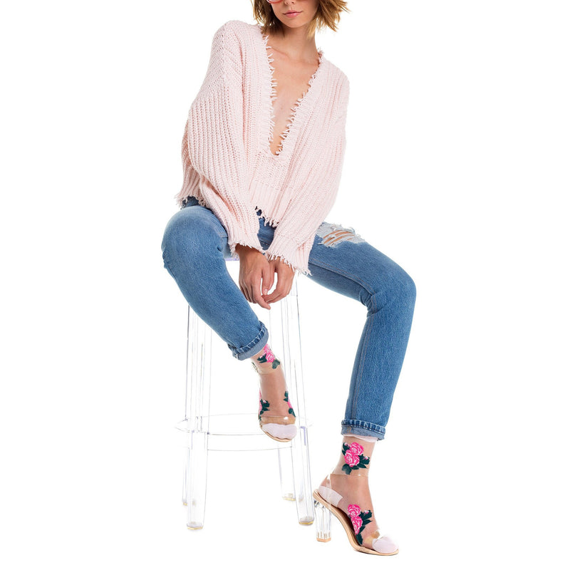 Wildfox Couture Palmetto Sweater Pink