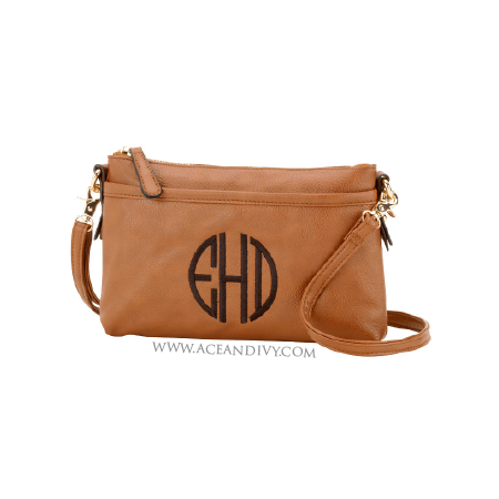 Monogrammed Rectangular Crossbody Purse