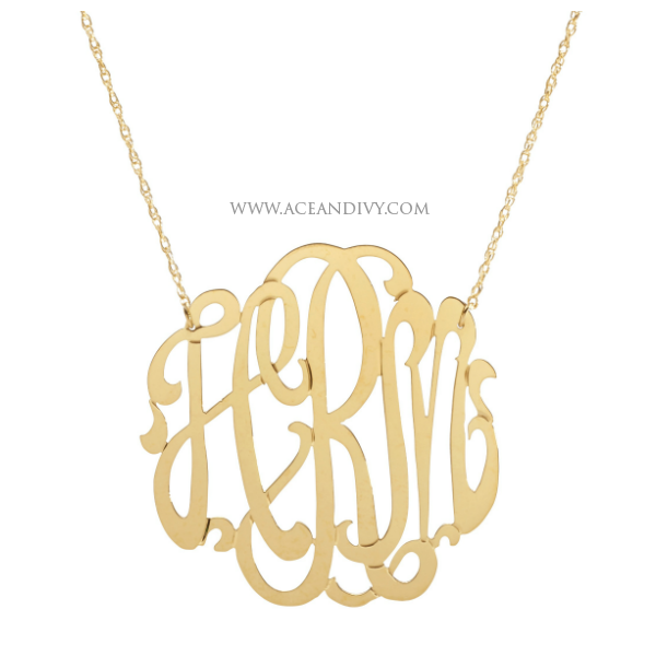 Handmade Script Monogram Necklaces